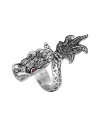 Naga Enamel Ombre Ring With Pave White Sapphires John Hardy Silver