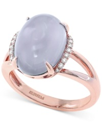 Effy Collection Effy Chalcedony 5 7 10 Ct. T.W. And Diamond Accent Ring In 14K Rose Gold