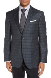 David Donahue Men's 'Connor' Classic Fit Check Wool Sport Coat
