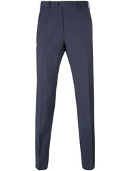 Brioni Tweed Tailored Trousers Blue