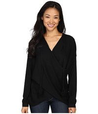 Fate Wrap Front Sweater Black Women's Sweater