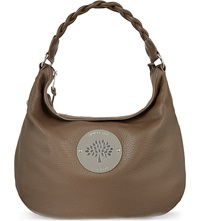 Mulberry Daria Pebbled Leather Hobo Bag Taupe