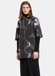 Rick Owens Printed Worker Shirt Black