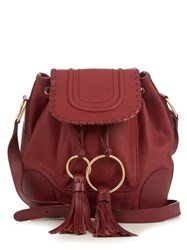 See By Chloe Polly Leather Bucket Bag Burgundy