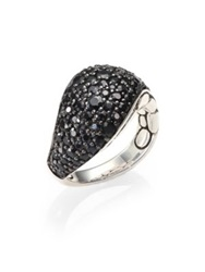 John Hardy Kali Black Sapphire And Sterling Silver Lava Ring