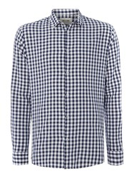 Only And Sons Long Sleeve Gingham Shirt Blue