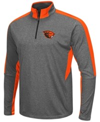 Colosseum Men's Oregon State Beavers Atlas Quarter Zip Pullover Charcoal Orange