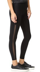 Spanx Every Wear Mesh Side Stripe Leggings Black