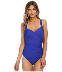 Miraclesuit Must Haves Sanibel One Piece Electric Blue Women's Swimsuits One Piece