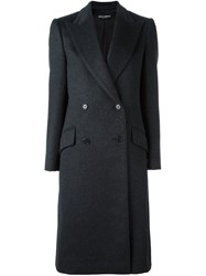Dolce And Gabbana Double Breasted Coat Grey