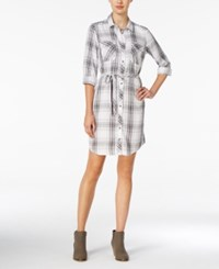 G.H. Bass And Co. Plaid Shirtdress Soft White Combo