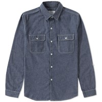 Edifice Chambray 2 Pocket Shirt Blue