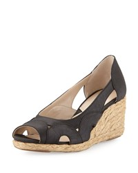 Adrienne Vittadini Bounce Cutout Wedge Pump Black