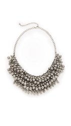 Raga Layered Beaded Statement Necklace Silver