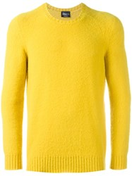 Drumohr Crew Neck Jumper Yellow Orange