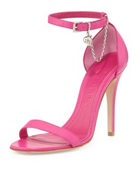 Alexander Mcqueen Ankle Wrap D'orsay Sandal With Skull Charm Bougainvillea Bouganville