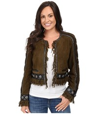 Double D Ranchwear Rio Cuarto Jacket Olive Women's Coat