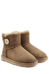 Ugg Australia Mini Bailey Button Suede Boots Green