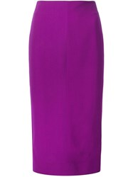 Victoria Beckham High Waisted Pencil Skirt Pink And Purple