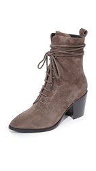 Sigerson Morrison Duran Lace Up Booties Anthracite