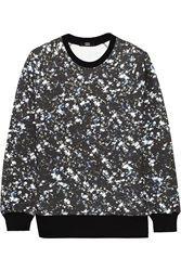 Markus Lupfer Printed Cotton French Terry Sweatshirt Blue