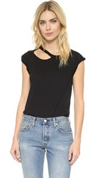 Chaser Deconstructed Rolled Shirttail Muscle Tee Onyx