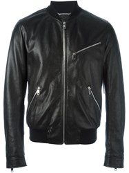 Dolce And Gabbana Zip Bomber Jacket Black