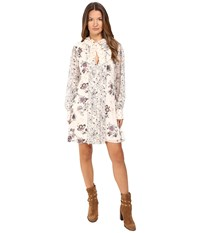 See By Chloe Georgette Floral Tie Dress Winter White