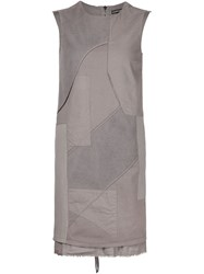 Alexandre Plokhov Sleeveless Patchwork Dress Grey