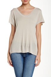 Inhabit Pointelle Tee Gray