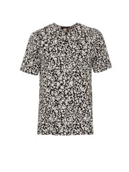 Christopher Kane Decay Print Collarless Cotton Shirt