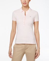 Lacoste Five Button Slim Fit Polo Flamingo