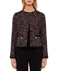 Ted Baker Jasina Boucle Jacket Black