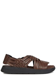 Malibu Canyon Brown Faux Leather Sandals