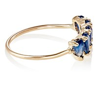 Loren Stewart Women's Sapphire Thin Band Ring No Color