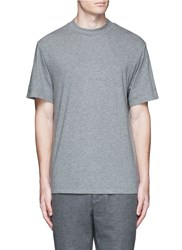 Alexander Wang High Crew Neck Cotton Jersey T Shirt Grey