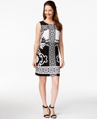 Alfani Petite Crop Overlay Printed Dress Only At Macy's