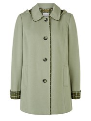 Eastex Cedar Check Hooded Coat Green