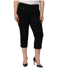 Jag Jeans Plus Caley Pull On Crop Classic Fit In Black Black Women's Capri