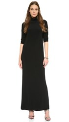 Norma Kamali Kamali Kulture Go Turtleneck Maxi Dress Black