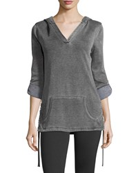 Marc New York Marc Ny Performance Fleece Hooded Pullover Smoke Grey