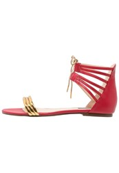 Patrizia Pepe Sandals Bright Red Gold