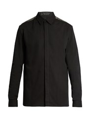 Haider Ackermann Depougy Embellished Cotton Shirt Black