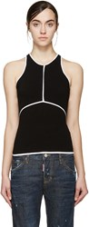 Dsquared Black And White Racerback Top