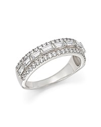 Bloomingdale's Baguette And Round Diamond Ring In 14K White Gold 1.25 Ct. T.W.