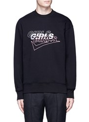 Alexander Wang 'Girls Girls Girls' Embroidered Sweatshirt Black