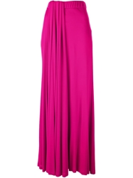 Iceberg High Waisted Pleat Skirt Pink And Purple