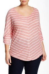 Gibson Lightweight Chevron Tee Plus Size Red