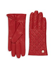 Calvin Klein Quilted Leather Gloves Black
