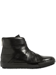 Alejandro Ingelmo Woven Leather High Top Sneakers